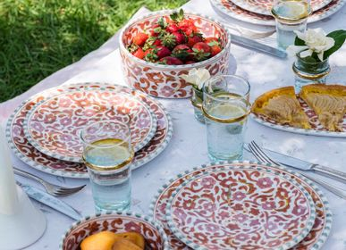 Platter and bowls - COLLECTION FLOWERS - CHABI CHIC