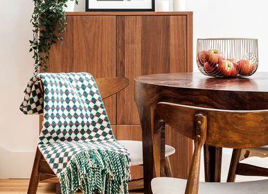 Throw blankets - BICOLOR AZULEJO Wool Blanket - BUREL FACTORY