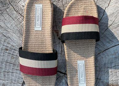 Shoes - Les Mauricettes de Gilbert, striped men's tap - LES MAURICETTES