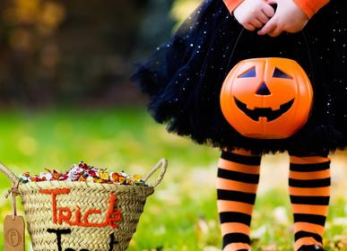 Décor de fête pour enfant - Corbeille halloween trick treat - ORIGINAL MARRAKECH