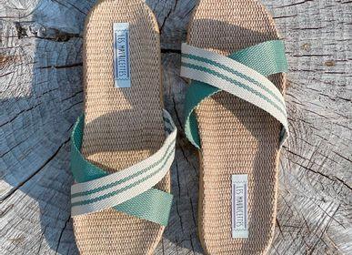 Shoes - Les Mauricettes de Gilberte, khaki crossed women's tap - LES MAURICETTES
