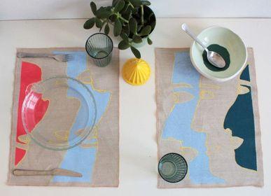 Ménagères - Set de table Visages - L'ATELIER DES CREATEURS