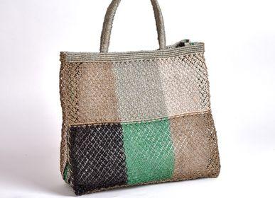 Sacs et cabas - Sac en macramé en jute avec motif patchwork - MAISON BENGAL