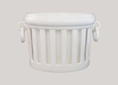 Vases - Openwork Empire planter with interior - BOURG-JOLY MALICORNE