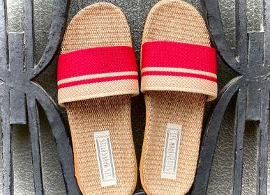 Shoes - Les Mauricettes de Jacinthe, claquettes femme rouges - LES MAURICETTES
