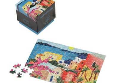 Objets design - Puzzle Penny Puzzle Santorin Sunset de 150 mini puzzle pour adultes - PENNY PUZZLE