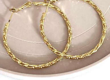Bijoux -  Créoles dorées à l'or fin ou argentées (rhodium) - NAO JEWELS