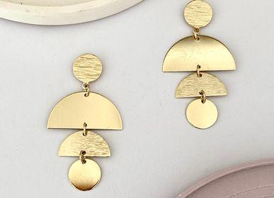 Bijoux - Boucles d'oreilles dorées à l'or fin ou argentées (rhodium) - NAO JEWELS