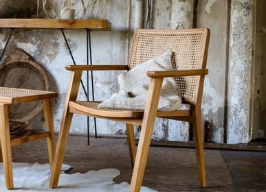 Chairs - Nova dining chair with armrests - RAW MATERIALS