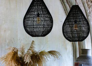 Suspensions - Lampe Maze goutte noire et naturelle - RAW MATERIALS