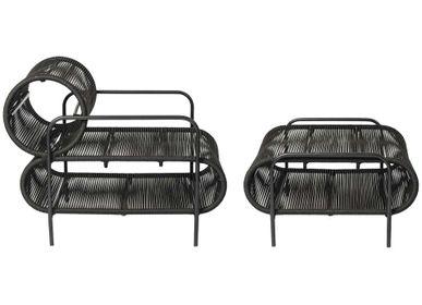 Garden textiles - ELO armchair and footrest - FILIPE RAMOS DESIGN
