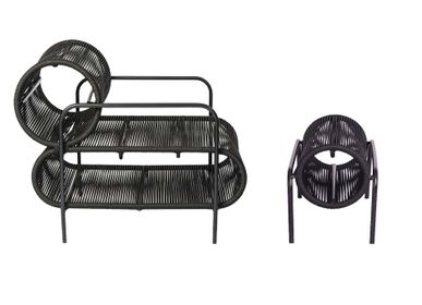 Garden textiles - ELO Armchair and Tube Footstool - FILIPE RAMOS DESIGN