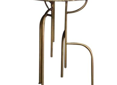 Bureaux - Table d'appoint ronde Lagoas Old Gold Small  - FILIPE RAMOS DESIGN