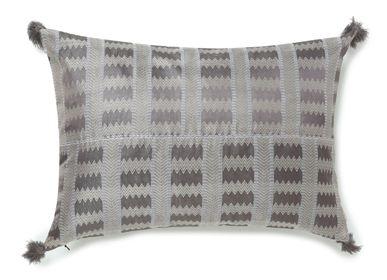 Cushions - Jaga Grey Cushion Cover - AADYAM HANDWOVEN