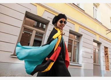 "Scarves - Long silk scarf ""Noble dreams"" - AMRES ART"