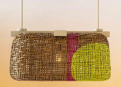 Suspensions - Pouf Hanging Lamp (Rectangular) - OBRA CEBUANA