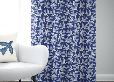 Curtains and window coverings - Bakea Encre Cotton Curtain - LA MAISON JEAN-VIER