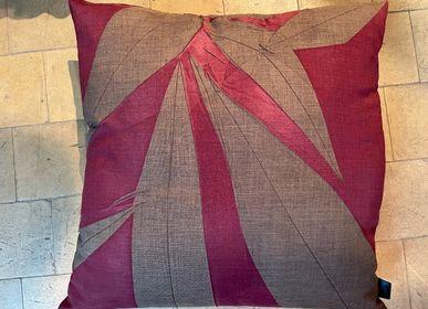 Cushions - Cushion brown burgundy print - CHRISTOPH BROICH HOME PROJECT