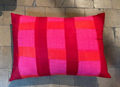 Cushions - double folded print cushion - CHRISTOPH BROICH HOME PROJECT