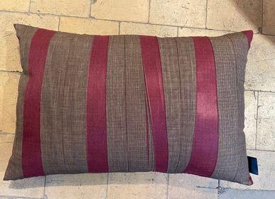 Cushions - Cushion, Brown, Burgundy Print - CHRISTOPH BROICH HOME PROJECT