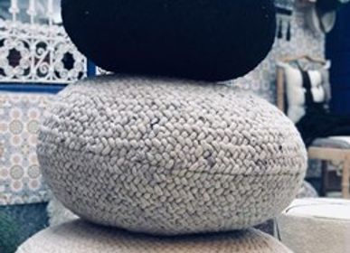 Decorative objects - Braided Wool Pouf - CHIC-INTEMPOREL