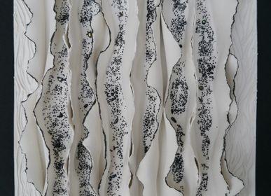 Paintings - Tableaux Porcelaine  collection Ecorce - GUENAELLE GRASSI
