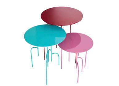 Objets de décoration - Tables rondes d'appoint Lagoas Accent, «Ensemble de trois» - FILIPE RAMOS DESIGN