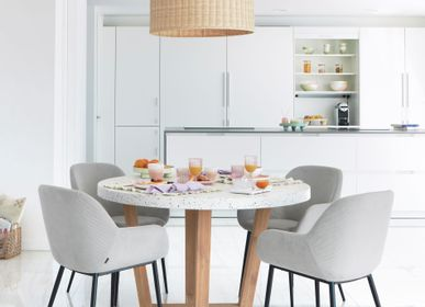 Dining Tables - Shanelle round table for two in white terrazzo Ø 120 cm - KAVE HOME