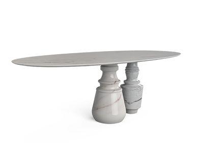 Dining Tables - PIETRA OVAL ESTREMOZ Dining Table - BOCA DO LOBO