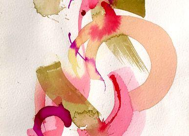 Paintings - V - Acrylic paint on paper - IMOGEN HOPE