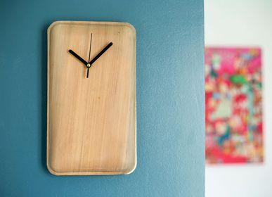 Horloges - Grande Horloge rectangulaire ( 31x 18cm) en feuilles de Palmier - ARECABIO