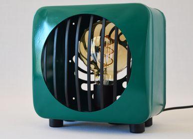 Design objects - Edla green design square table lamp - ARTJL