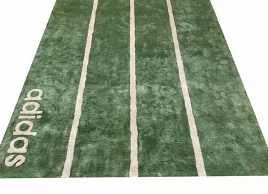 Tapis - Beautiful Direct From Manufacturer Adidas Reebok Logo  Customizable Modern Handtufted Rugs and Carpet 2 - INDIAN RUG GALLERY