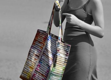 Bags and totes - Vintage Tote bag «Puppets and chalks» - MARON BOUILLIE