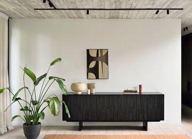Sideboards - Teak Mosaic sideboard and TV cupboard - ETHNICRAFT