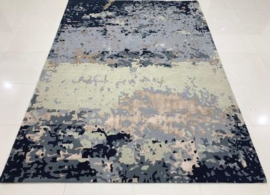 Tapis design - Customizable Silk, New Zealand Wool Handtufted Rug And Carpet 8 - INDIAN RUG GALLERY