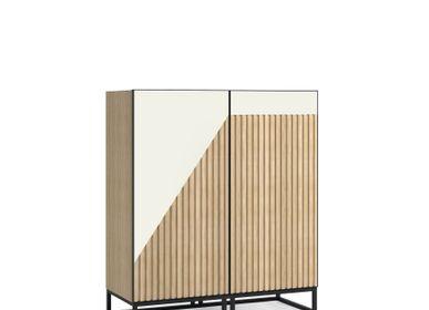 Storage boxes - Oblique Small Cabinet - ZAGAS FURNITURE