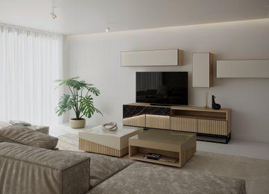 Sideboards - Oblique Big TV Cabinet - ZAGAS FURNITURE