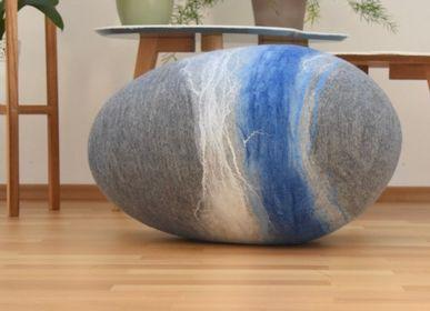 Ottomans - Atlantic Collection Felt Wool Floor Cushion - L'ATELIER DES CREATEURS