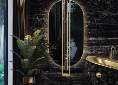 Hotel bedrooms - SHIELD OVAL MIRROR - MAISON VALENTINA