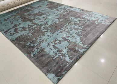 Rugs - Customizable Modern 3D High Low Cut Silk Handtufted Rug Carpet 16 - INDIAN RUG GALLERY