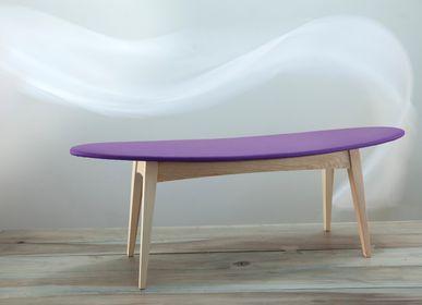 Banquettes pour collectivités - banquette en bois tapissée design  SURF - VAN DEN HEEDE-FURNITURE-ART-DESIGN