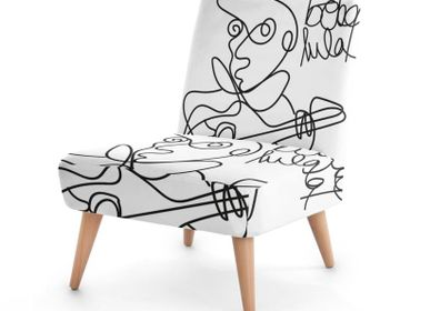 Office furniture and storage - ARTY ARMCHAIR several models possible - L'ATELIER D'ANGES HEUREUX