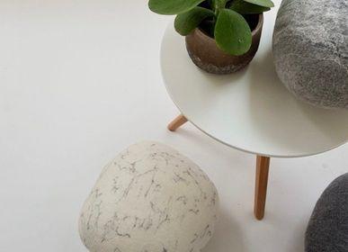 Ottomans - Stone Collection Felted Wool Floor Cushion - L'ATELIER DES CREATEURS