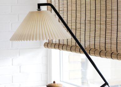 Rideaux et voilages - Store enrouleur en bambou rayé marron - COLOR & CO
