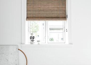 Rideaux et voilages - Store enrouleur en bambou teinté gris - COLOR & CO