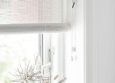 Rideaux et voilages - Store enrouleur en bambou fin blanc - COLOR & CO