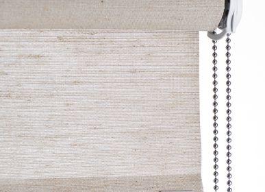 Rideaux et voilages - Store enrouleur végétal brun clair, avec chaîne à tirer - COLOR & CO
