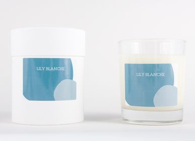 Bougies - BOUGIE BLEUE - LILY BLANCHE