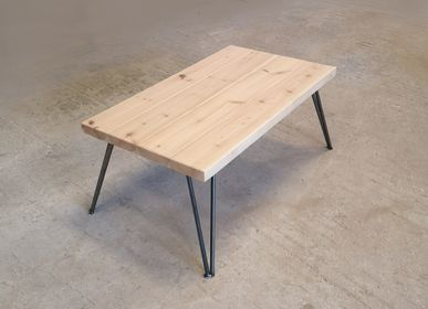 Coffee tables - Coffee table with top form FSC pine and V legs - LIVING MEDITERANEO
